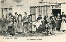 Carte Baptême Bressan Folklore de Bresse Accordéon