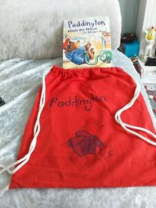Paddington bear backpack + book