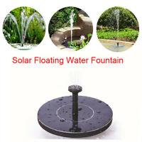 Outdoor Solar Powered Floating Bird Bath Water Fountain Pump Pond Pool Decor