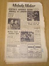 MELODY MAKER 1953 AUGUST 22 STAN KENTON KAY STARR FRANKIE LAINE CAB KAYE JAZZ