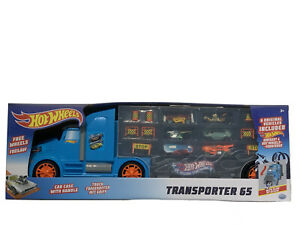 Hot Wheels Transporte 65 Truck & Car Case With Handle 6x Cars Included Play Set