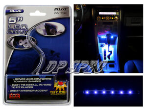 """BLUE 5"""" LED STRIP HEAD TAIL LIGHT BUMPER GRILLE DASH SEAT FOR TOYOTA"""