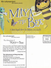 MAYA & THE BEE - JAZZ PUPPET SHOW ADVERTISING COLOUR POSTCARD