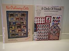 2 QUILTING BOOKS: A Circle of Friends MINI QUILTS, No Ordinary Cats PATCHWORK