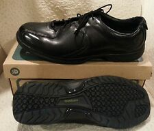 Dunham Oakdale Water-Proof Black Leather Oxford Sz 14M