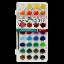 Watercolour Paint Set Cake Pan Kit 36 Colours Mont Marte W Palette Box Brush