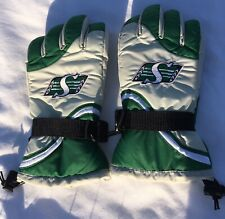 Saskatchewan Roughriders Green Gray Winter Gloves adidas Adult M CFL USA SELLER
