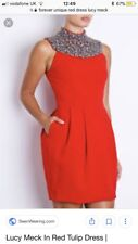 Forever Unique Red Tulip Dress As Seen On Lucy Meck Towie 8