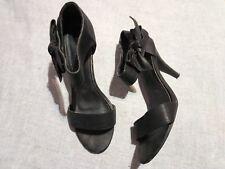Sandalias de tacón negras, número 40, tacón 10 cm