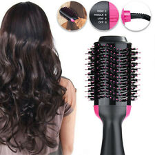 4 in 1 One-Step Hair Dryer and Volumizer Oval Brush Straightener Comb Pro Salon