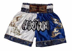 New Boxing Shorts Muay Thai MMA Trunks Satin Trousers