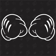 Boxing Mickey Mains Tuning Sticker,Choquant Fun Autocollants Pour Voiture,Main