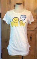 """Gwen Stefani HARAJUKU LOVERS Crm """"THIS LOVE IS SERIOUS"""" Mesh Inserts TEE NWOT XL"""