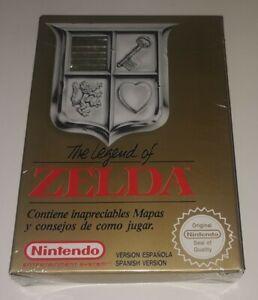 ZELDA Nintendo NES pal españa nuevo new sealed blister snes precintado mint rare