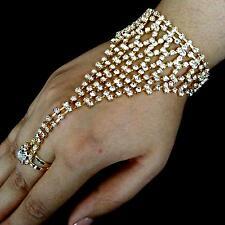 Bollywood Bijou De La Jeune Mariée Bijou Pour Main Anneau Bracelet D'esclave