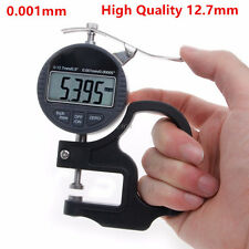 Digital Thickness Gauge 0.001mm Tester Meter Paper Film Leather Measuring Tool