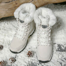 Women Fur Lined Non-Slip Snow Boots Winter Warm Ankle Shoes Booties 2019 Fashion