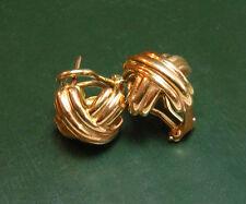 Klassische TIFFANY & Co. Signature 750er GOLD-OHRRINGE Kreuz • 8,55 g