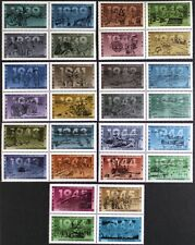 D1121P CANADA 1989-1995 World War II Complete collection 7 BLOCKS of 4 Mint NH