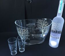 Belvedere vodka set 1,75l LED frasco + 2 vasos + radiador 40% vol.