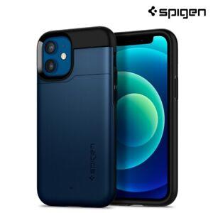 iPhone 12 Mini Case, Spigen Slim Armor CS Card Holder Cover - Navy Blue