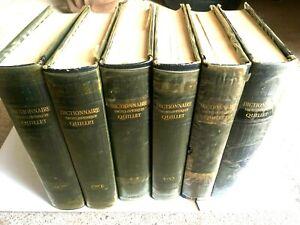 (n°2) ANCIEN livre, lot , Dictionnaire Encyclopédique Quillet, 6 Tomes