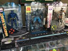 Lot of 3 Marvel Select New Figures Brown Wolverine Ultimate Hulk Marvel's Beast