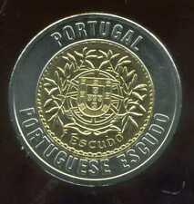 PORTUGAL  1 escudo    monnaie européenne, Universel Bimétallique jeton
