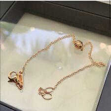 Piaget Possession Diamond 18k Rose Gold Ball Charm Chain Bracelet New in Box