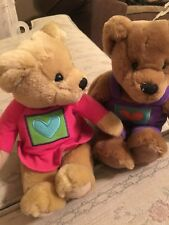 Hallmark 10 in. Collectible Stuffed Animal Bears: Set of 2 (New)