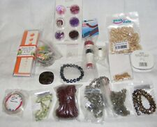 BN JOB LOT JEWELLERY MAKER MAKING KIT WIRES, BEADS CORD, DRAW PLATE, LABRADORITE