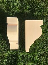 Wooden Corbels (Shelf Brackets) solid pine style Q (1 pair)
