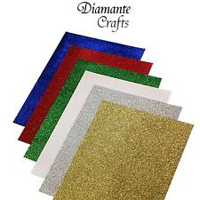 Glitter Paper A4 - 12 Sheets Assorted Colours - 80gsm - Card Scrapbooking Craft