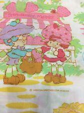 Vintage Strawberry Shortcake  Twin Sheet Set Bedding 1980 Amer Greetings