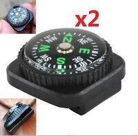 2pcs Compass Slip Slide on Watch Band Wrist For Survival Paracord Rope X2 A