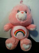 "2002 Care Bears CHEER Bear Carnation PINK Plush Stuffed Animal 10"""
