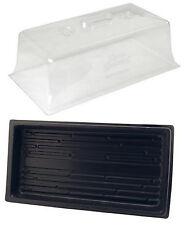 "Wheatgrass Cloning Trays 10"" x 20"" Propagation Kit Vented Humidity Dome + Tray"