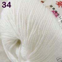 Sale 1 Skein x50g Baby Cashmere Silk Wool Children hand knitting Crochet Yarn 34