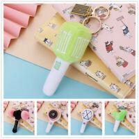 Kpop NCT BLACKPINK Lightstick Shape Plush Key Chain EXO TWICE Key Ring Bag Charm