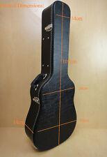 WC-100 Acoustic Guitar Hardshell Case FIt Most Acoustic Guitar,Key Lock, Black