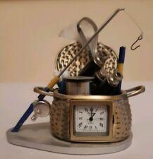 COLLECTABLE DESKTOP FISHING ORNAMENT/CLOCK