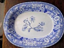 "Wedgwood Antique Morning Glory Pattern Botanical Floral 15.25"" Deep Platter #75"