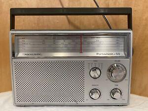 Vintage Realistic Deluxe 5 Band Radio Portavision 50 12-780 *Very Nice*