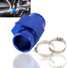 LCD Car Water Temperature Temp Meter Gauge Hose Joint Pipe 28mm Blue W/ Clamp