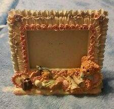 Vintage Bear Picture Frame Ceramic. Fits pictures that are 3x4
