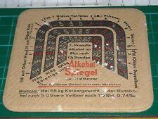 sottobicchiere beer mats birra bierdeckel ALKOHOL SPIEGEL SIEGTAL PILS SPEZIAL