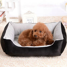 Super Soft B211 Black 60*45cm Small Puppy Pet Dog Cat Bed House Basket Nest Mat