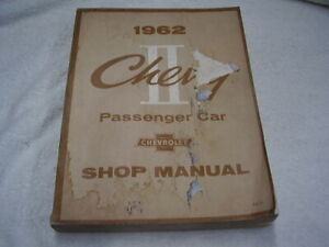 1962 CHEVROLET CHEVY II  NOVA   ORIGINAL   SHOP MANUAL