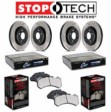 For Acura TL 04-08 Front & Rear StopTech Slotted Brake Rotors Sport Pads Set Kit