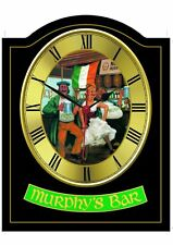 MURPHYS BAR Pub Sign WALL CLOCK for your Home Bar, Man Cave or Pub Shed